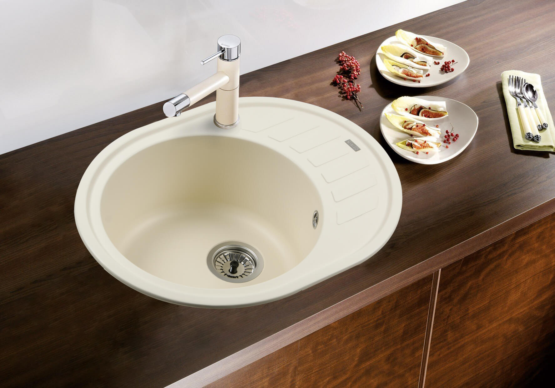 фото кам'яна мийка MONICA (CREMA) 620x500x200 Ventolux