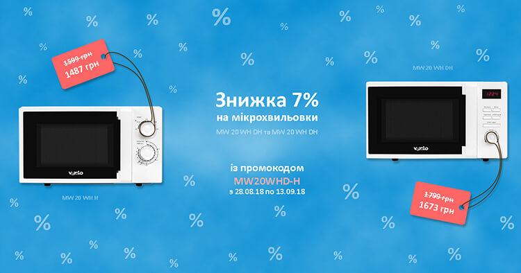 Знижка 7% на настільні мікрохвильовки Вентолюкс