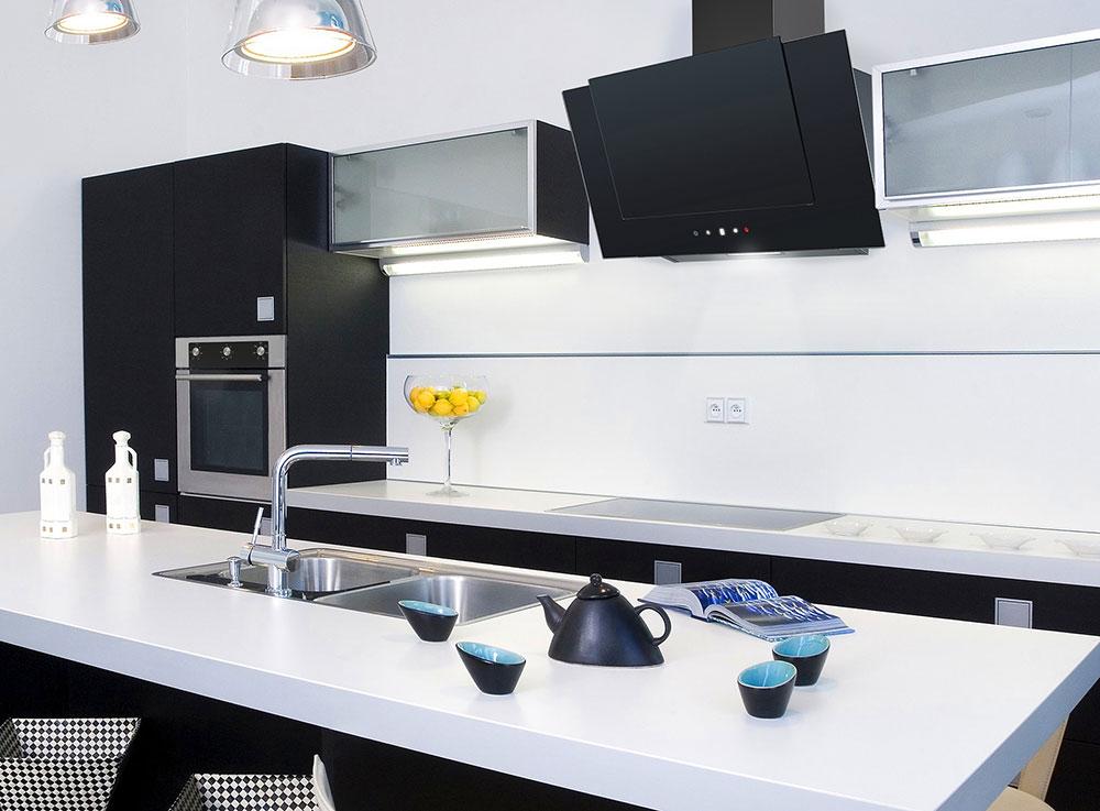Кухонная вытяжка DIAMOND 60 BK (750) TC