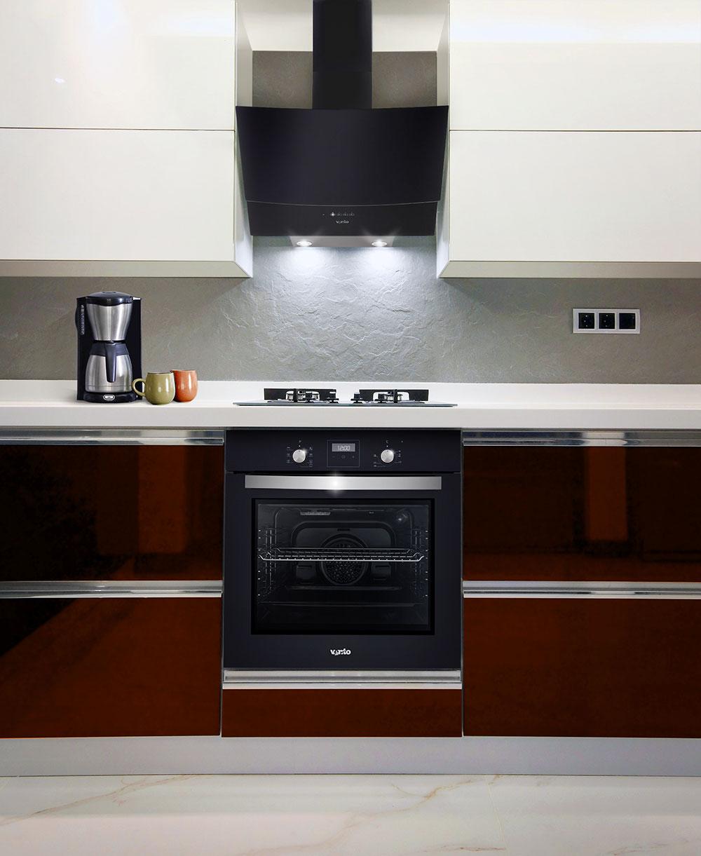 Витяжка на кухню WAVE 60 BK (1000) TRC IT